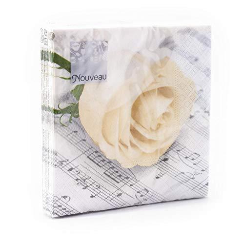 Nouveau Classic Rose - Servilletas de Papel, Multicolor, 25 x 25 cm