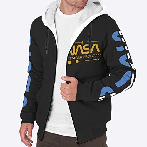 YxueSond Heren Casual Hoodie Jacket Dikke Wol Warm Winter NASA Hoodie Jassen