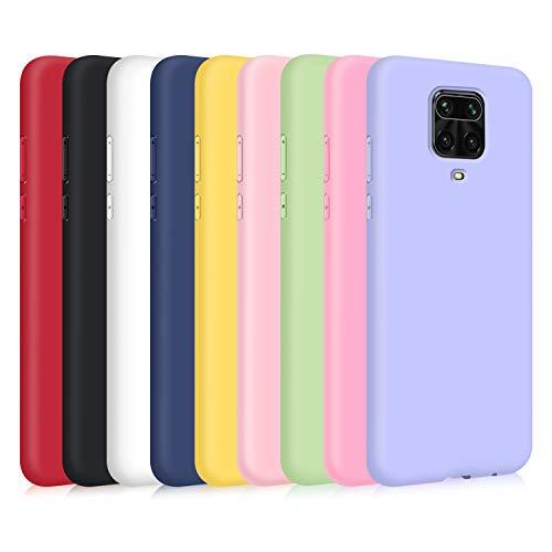 9X Funda para Xiaomi Redmi Note 9S/ Note 9 Pro/Note 9 Pro MAX, Ultra Delgado Color Silicona Carcasa Premium Suave Flexible TPU Gel Bumper Protectora Caso Anti-Rasguños Anti-Choque