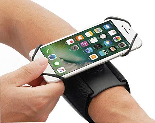 Sportarmband für Sport-Laufarmband, Handyhalterung, 360° drehbar, Unterarm-Hülle Motorola Moto G7 Power, G6, G7, G8 Plus, E5, E6 Z4, One, LG Stylo 5, 4, G8/G8s ThinQ, Rebel OnePlus 7T, 6T, BLU G9