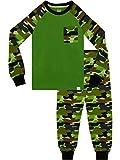 Harry Bear Pijama para niños Camuflaje Ajuste Ceñido Verde 10-11 Años