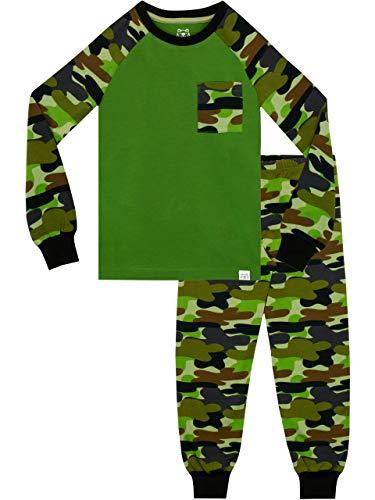 Harry Bear Jungen Tarnmuster Schlafanzug Snug Fit Grün 146