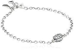 Pandora Damen Armband 925 Sterling Silber Zirkonia 18.0 cm weiß 590504CZ-18