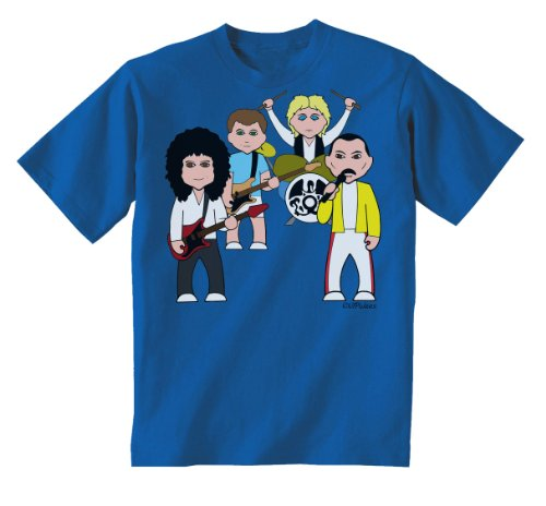 Kids Queen Band Caricatures Organic T-shirt, 3 to 14 Years