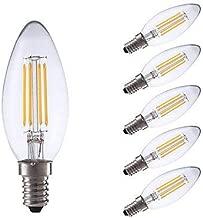 LNDDP 3.5W E14 LED Filament Bulbs B35 4 COB 350/400 lm Warm White/Cool White Dimmable AC 220-240 V 6 pcs, Cool White