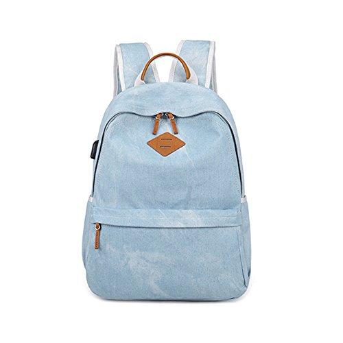 mochila portátil con cargador USB estudiantes mochila mochila escolar antirrobo Mochila Mochila de viaje de negocios para los hombres / mujer