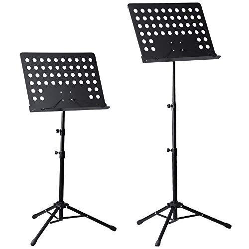 Atril para director de orquesta, color negro TPM MS440 pupitre de partituras...