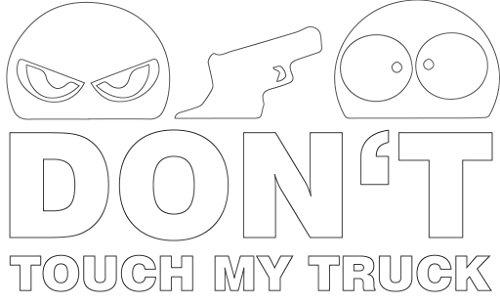 Don't Touch My Truck LKW Aufkleber Sticker ca. 13x8 cm weiß JDM Autoaufkleber Tuning Fun Trucker Finger Weg! Car Auto Stickerbomb Hinweis Achtung Anfassen Verboten