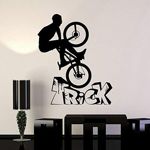 NSRJDSYT Sport Bike Wall Decals Sports Bicycle Wheel Vinyl Wall Decal Bike Bicycle Teen Room Sports Home Bedroom Decor 68x57cm