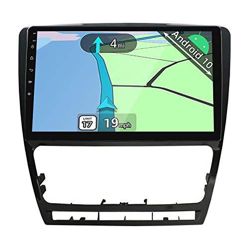YUNTX Android 10 Autoradio adatto per VW Skoda Octavia (2007-2014)- GPS 2 Din - 2G+32G - 10.1 pollice TouchScreen- Supporta DAB / Controllo del Volante /Bluetooth 5.0/WiFi/4G/CarPlay/USB/Mirrorlink