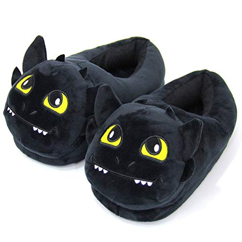 Anime Tekenfilm How to Train Your Dragon Toothless Home Pluche slippers Huis Winter Indoor schoenen Zachte knuffels