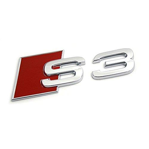 Audi Original S3 Schriftzug Heck Emblem Zeichen Exterieur Logo Chrom