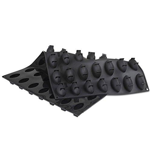 Pavoni Pavoflex Silicone Quenelle Tonda Mold - 49 Forms