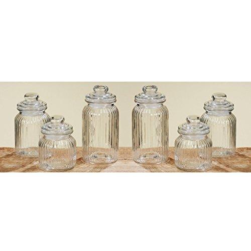 Vorratsglas 6er Set Bonbonglas Nostalgie Glas Behälter Vorratsdose