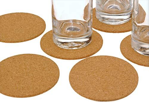 Spetebo 12x Kork Untersetzer rund Ø 10 cm - Glasuntersetzer Getränkeuntersetzer Tassenuntersetzer