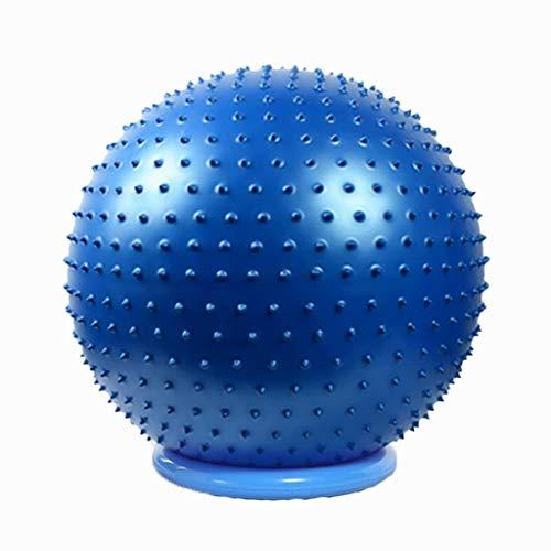 WDX- Pelota de yoga Masaje de superficie Granulado bola de gimnasia Bola de masaje Grueso a prueba de explosiones Respetuoso con el medio ambiente Bola de gimnasia Entrenamiento con sentido del bebé E