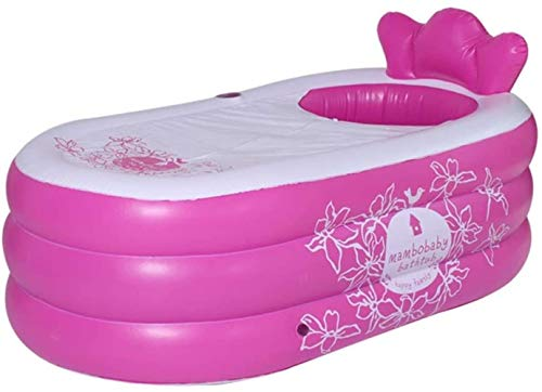 Woodtree Inflable Piscina, SPA portátil Plegable for Adultos PVC Inflable Bañera (Color: Verde), Color: Rosa (Color : Pink)