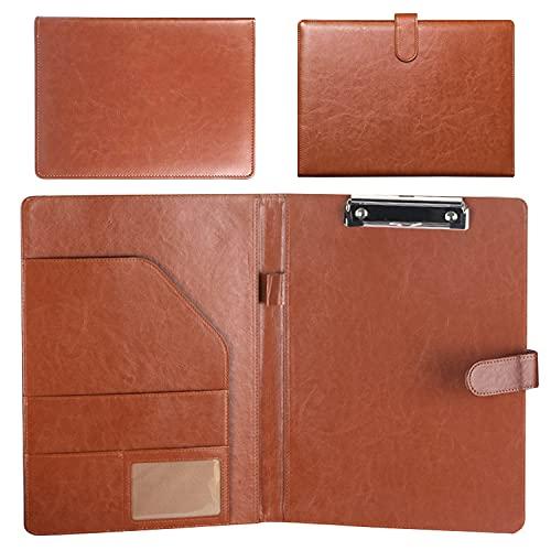 Cartellina portadocumenti formato A4, per ufficio, casa e scuola, marrone