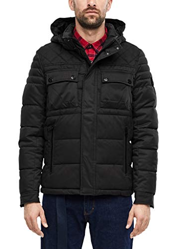 s.Oliver RED LABEL Herren BIONIC-FINISH® Jacke in Woll-Optik dark grey L