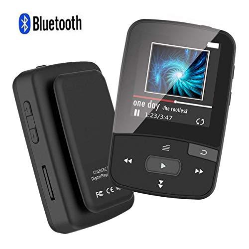 MP3-speler met Bluetooth, 8 GB Bluetooth MP3-speler met clip, ondersteunt FM-radio, uitbreidbare micro-SD-sleuf, ondersteunt 64 GB, zwart