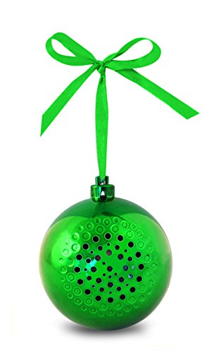Life Made Tree Tunes Christmas Ornament Bluetooth Speaker for Smartphones - Retail Packaging - Green