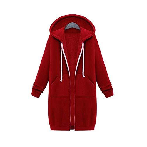 x8jdieu3 Herbst und Winter tragen extra Lange Plus Samt, um warme Langarm-Pullover Mantel Baumwolle Mantel Größe lose Kapuzenjacke Mantel weiblich zu erhöhen