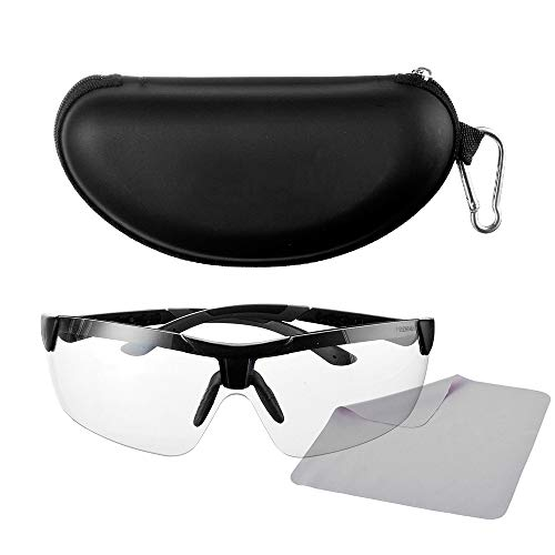 IN4 Care Tactical Eyewear, Sport Outdoor Antisfog Safety Glasses & Hard Shell Case - Unisex Shooting Glasses Cycling,Driving,Hiking,Fishing,Hunting