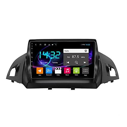 Android 10.0 Car Stereo Sat Nav Radio para Ford Kuga Escape C-MAX 2013-2017 Navegación GPS 2 DIN 9 '' Unidad Principal Reproductor Multimedia MP5 Receptor de Video con 4G FM DSP WiFi SWC Carplay