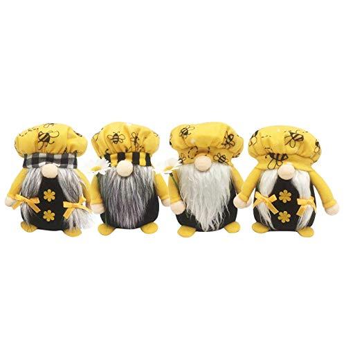 Briskorry Gnome - Figura decorativa de gnomo de abejas de peluche, regalo festivo para niños, casa de campo, decoración de mesa