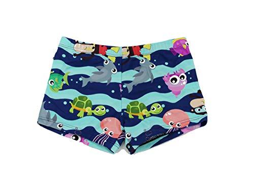 SOL Y PLAYA-Bañador Tiburón para niño Bañador Niños Boxer de Natación Traje de Baño (Shark Shark) Animales Mono ( Monkey ) Vida Marina pez ( Fish ) Tortuga Marina