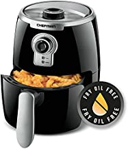Chefman 2 Qt, Nonstick Small, Compact Healthy Cooking User Friendly and Adjustable Temperature Control w/ 60 Minute Timer & Auto Shutoff, Dishwasher Safe Basket, BPA-Free, Black, 2 Liter Air Fryer