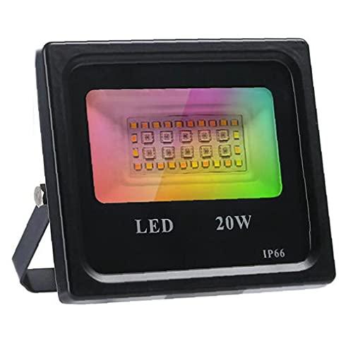 DierCosy Proyector LED RGB Color Que Cambia la luz de inundación 20W con App de Control para la Fiesta de Navidad decoración de Halloween