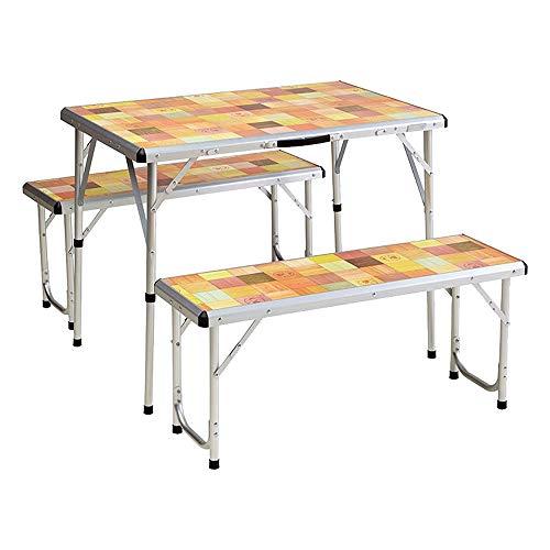 Picnic Set Mosaic - Conjunto mesa e bancos, Coleman, Amarelo