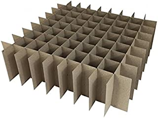 Chipboard Box Dividers 81 Cells for 1 oz (30ml) Boston Round for E-Liquid Juice Vapor Cigarettes, Essential Oils, Cosmetics etc. Fits inside any 12 x 12 box like large flat rate USPS box (50)