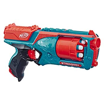 NERF Strongarm N-Strike Elite Toy Blaster with Rotating Barrel Slam Fire and 6 Official Elite Darts for Kids Teens and Adults  Amazon Exclusive   Orange