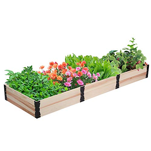 Wooden Raised Garden Bed  Free Combination Planter Box Kit for Growing Fruit/Vegetable/Herb/FlowerOutdoor 63x63x94in
