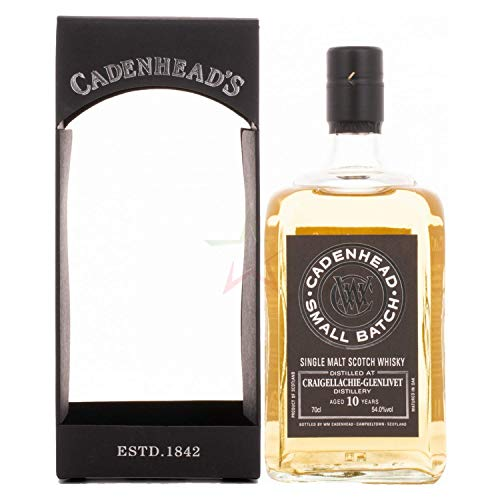 Cadenhead's CRAIGELLACHIE-GLENLIVET 10 Years Old SMALL BATCH Single Malt Scotch Whisky 2009 (1 x 0.7 l)