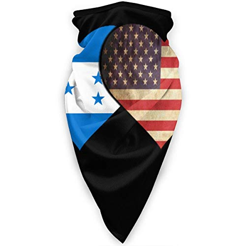 Pañuelo De Cabeza Hombre Mujer Pasamontañas Bandera De Honduras Y Bandera Americana Bufanda Facial Multifuncional Bandana Adulto Calentador De Cuello para Partido Correr Pesca