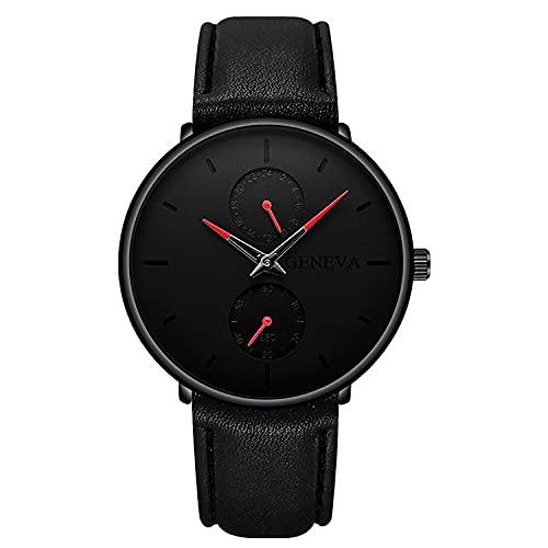 ZRSJ Red de Calendario de Puntero de Color de Color de Cuarzo Masculino con Reloj de cinturón(y)