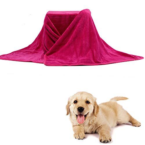 HEELPPO Toalla Suave para Mascotas Toalla De Ducha para Mascotas Toalla De BañO para Mascotas Toalla De Microfibra Adecuado para Perros Y Gatos PequeñOs Rose&Red