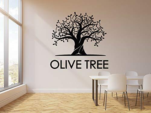 myrockshirt Wandtattoo Aufkleber Olivenbaum Blätter Natur Küchen-Dekor- für alle glatten Flächen UV&Waschanlagenfest Autoau