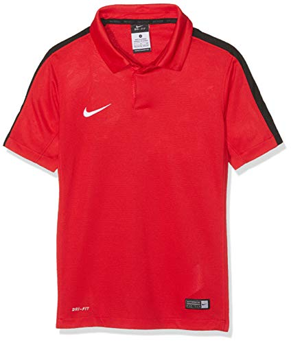 Nike Yth Squad15 SS Sdln Polo a Maniche Corte da Uomo, Bambino, Polo, Yth Squad15 SS Sdln Polo, Rosso/Nero/Bianco (Rosso/Nero/Bianco/Rosso università), XS
