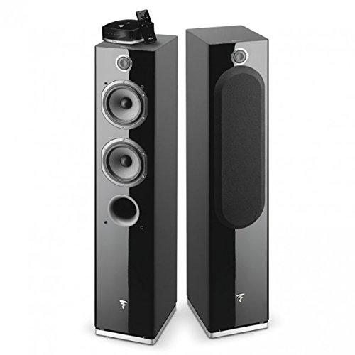 Focal - Easya Wireless Powered 2 1/2 Way Floorstanding Speakers - Black (Pair) - http://coolthings.us