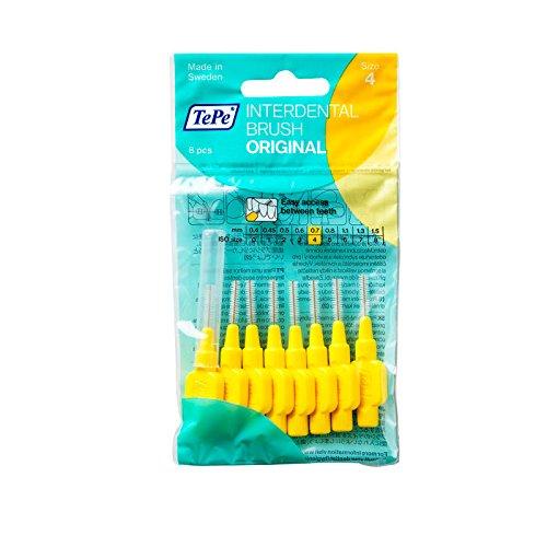 TePe Interdentalbürsten 0,7 mm gelb, 3er Vorteilspack (3x 8 Stück)