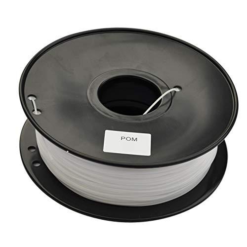 CROSYO 1pc White Color 3d Printer Filament POM(Polyformaldehyde) 1.75mm/3mm 1kg Plastic Consumables Material MakerBot/RepRap/UP/Mendel (Color : POM 1.75mm Black)