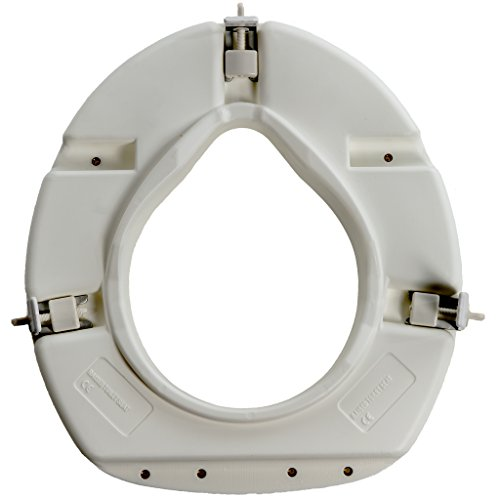 PCP Universal Fit 3 Inch Elevated Toilet Seat, Low Profile Rise Height Lift, Tightening Stability Lock, Portable Bath…