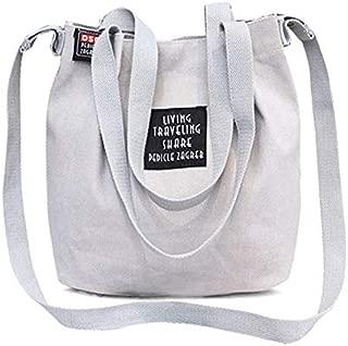 Docooler Women Canvas Totes Shoulder Bag Preppy Style Girls Handbag Functional Crossbody Messenger Bag