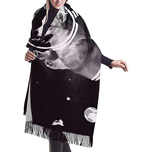 Laglacefond Corgi Astrounauts humor deur vrouwen sjaal sjaal winter wrap hoofddoekjes
