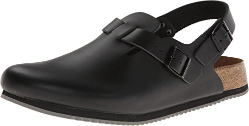 Birkenstock Professional Women's Tokyo Super Grip Leather, Black, 9.5 Narrow