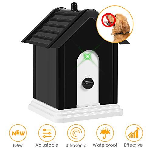 ELenest Anti Barking Device, 2019 New Bark Box Outdoor Dog Repellent Device with Adjustable...